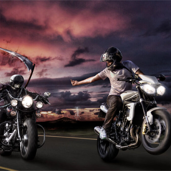 Brave Biker – Photoshop Artwork