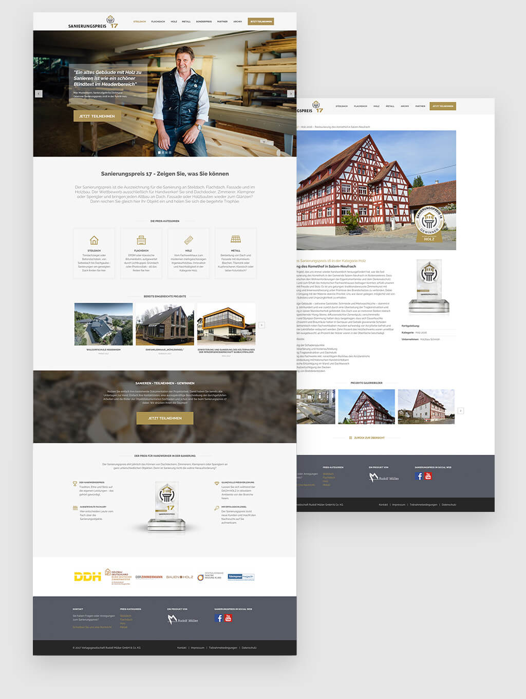 Website Relaunch Screendesign Sanierungspreis 2017 von Thomas Schiffmann Freelance Designer aus Köln