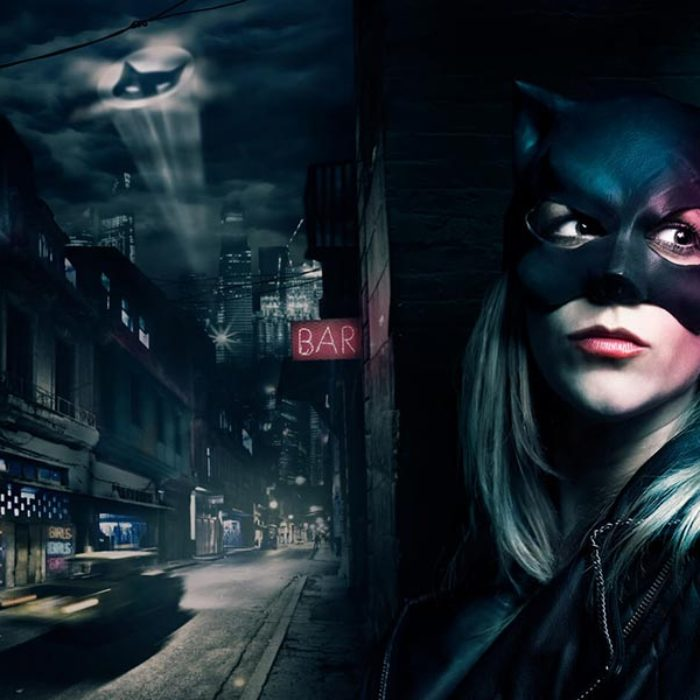 The Dark Kitty Rises – Photoshop Speedcomposing